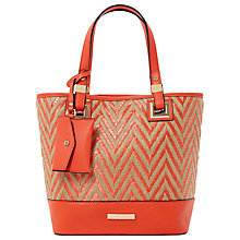 Buy Dune Diniden Base Panel Shopper Bag, Red Online at johnlewis.com