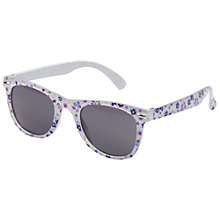 Buy Fat Face Girls' Cati Ditsy Sunglasses, Lilac Marl Online at johnlewis.com