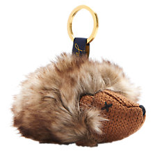 Buy Joules Hedgehog Keyring, Brown/Cream Online at johnlewis.com