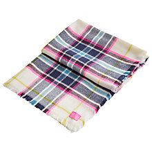 Buy Joules Berkley Check Print Scarf, Cream/Multi Online at johnlewis.com