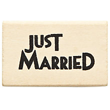 Buy East of India Just Married Rubber Stamp Online at johnlewis.com