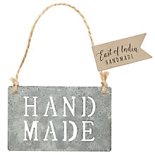 Buy East of India Hand Made Metal Cut Out Sign Online at johnlewis.com