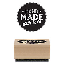 Buy East of India Handmade With Love Rubber Stamp Online at johnlewis.com