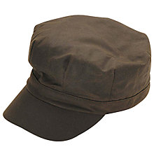 Buy Barbour Wax Bakerboy Hat, Olive Online at johnlewis.com