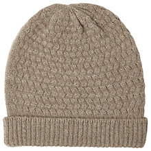 Buy John Lewis Cashmere Cable Beanie Hat Online at johnlewis.com
