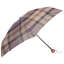 Buy Barbour Winter Tartan Umbrella, Grey Online at johnlewis.com