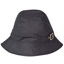 Buy Barbour Wax Trench Hat, Black Online at johnlewis.com