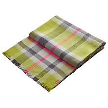 Buy Joules Tunstall Check Scarf, Olive/Pink Online at johnlewis.com