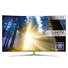 "Buy Samsung UE65KS9000 Curved SUHD HDR 1,000 4K Ultra HD Quantum Dot Smart TV, 65"" with Freeview HD, Playstation Now & 360° Design, UHD Premium Online at johnlewis.com"