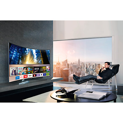 buy samsung ue65ks9000 curved suhd hdr 1 000 4k ultra hd quantum dot smart tv 65 with freeview. Black Bedroom Furniture Sets. Home Design Ideas