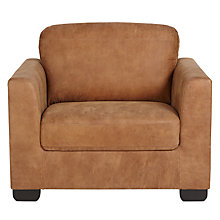 Buy John Lewis Cooper Leather Armchair, Masai Brown Online at johnlewis.com