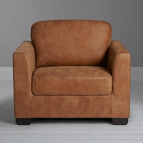Buy John Lewis Cooper Leather Armchair Masai Brown John