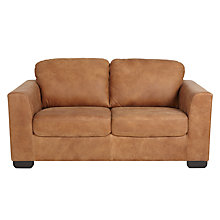 Buy John Lewis Cooper 2 Seater Leather Sofa, Dark Leg Online at johnlewis.com