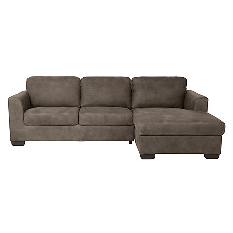 Buy john lewis cooper rhf leather chaise end sofa with for Chaise end sofas