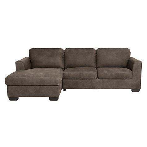 Buy john lewis cooper lhf chaise end leather sofa with for Chaise end sofa