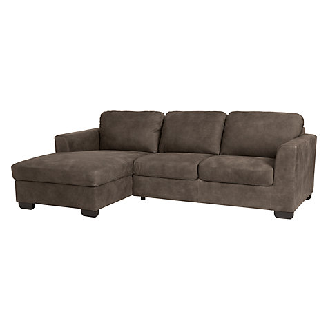 Buy john lewis cooper lhf chaise end leather sofa with for Boston leather chaise end sofa