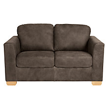 Buy John Lewis Cooper Small 2 Seater Leather Sofa, Light Leg Online at johnlewis.com