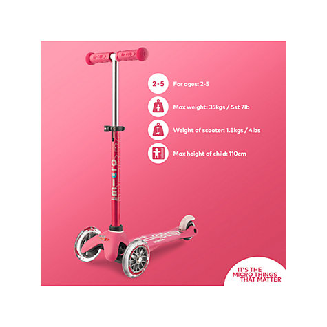 Buy Mini Micro Deluxe Scooter 2 5 Years John Lewis