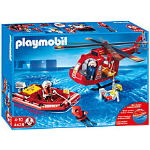 Buy Playmobil Rescue Helicopter & Boat Set Online at johnlewis.com