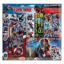 Buy Captain America Mega Sticker Set Online at johnlewis.com
