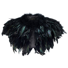 Buy Phase Eight Collection 8 Azaria Feather Cape, Black Online at johnlewis.com