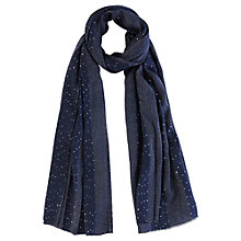 Buy Coast Sequin Scarf, Navy Online at johnlewis.com