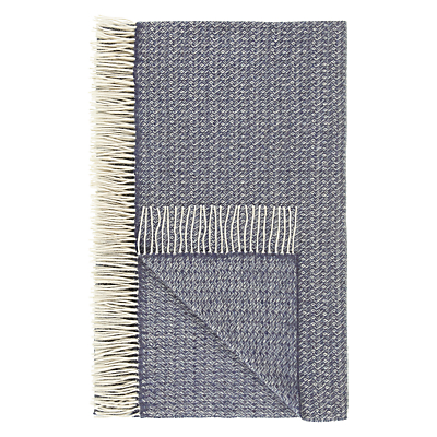 John Lewis Croft Collection Amble Throw, Blue