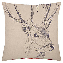 Buy John Lewis Ruskin House Stag Cushion Online at johnlewis.com