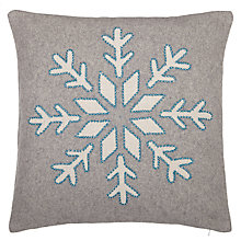 Buy John Lewis Croft Collection Snowshill Snowflake Cushion Online at johnlewis.com