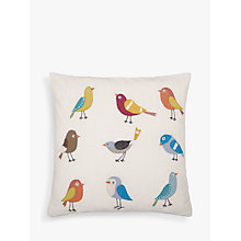 Buy John Lewis Sitting Birds Cushion, Multi Online at johnlewis.com
