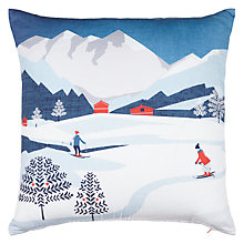Buy John Lewis Chamonix Skiers Cushion Online at johnlewis.com