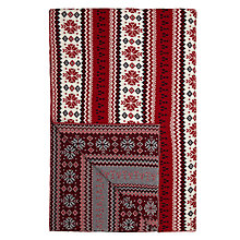 Buy John Lewis Fairisle Knit Throw, Red / White Online at johnlewis.com