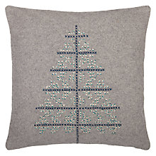 Buy John Lewis Croft Collection Snowshill Christmas Tree Cushion Online at johnlewis.com