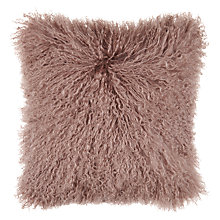 Buy John Lewis Mongolian Faux Fur Cushion Online at johnlewis.com