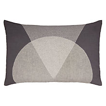 Buy House by John Lewis Peak Cushion, Linen / Grey Online at johnlewis.com