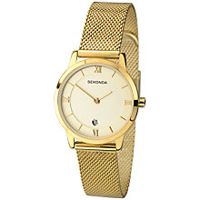 Buy Sekonda Women's Date Mesh Bracelet Strap Watch Online at johnlewis.com