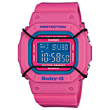 Buy Casio Unisex Baby-G Day Date Resin Strap Watch Online at johnlewis.com