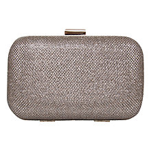 Buy Carvela Darcy Box Clutch Bag, Gold Sparkle Online at johnlewis.com