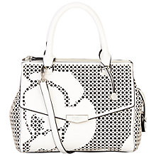 Buy Fiorelli Mia Cut-Out Grab Bag, White Online at johnlewis.com