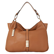 Buy Dune Donnelly Leather Hobo Bag, Tan Online at johnlewis.com