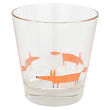 Buy Scion Mr Fox Glass Tumbler, Orange Online at johnlewis.com