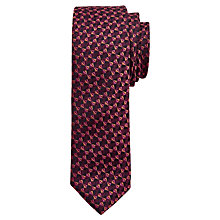 Buy Ted Baker Fiori Silk Tie, Deep Pink Online at johnlewis.com