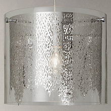 Buy John Lewis Blakeley Etched Metal & Glass Ceiling Light, Clear/Silver Online at johnlewis.com