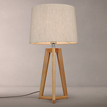 Buy John Lewis Brace Table Lamp, Oak Online at johnlewis.com