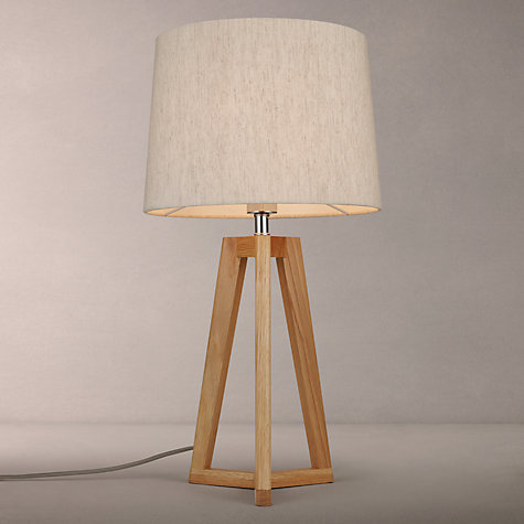 Buy John Lewis Brace Table Lamp Oak
