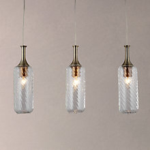 Buy John Lewis Atticus Bottle 3 Light Bar Ceiling Light, Clear Online at johnlewis.com