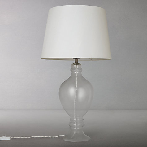 Buy john lewis croft ava table lamp clear glass ivory for Table lamp shades john lewis