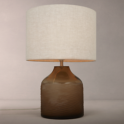 John Lewis Scratched Glass Table Lamp, Amber