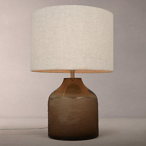 Buy John Lewis Scratched Glass Table Lamp Amber John Lewis