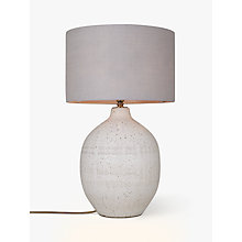Buy John Lewis Berber Round Embossed Stoneware Lamp Base, White Online at johnlewis.com